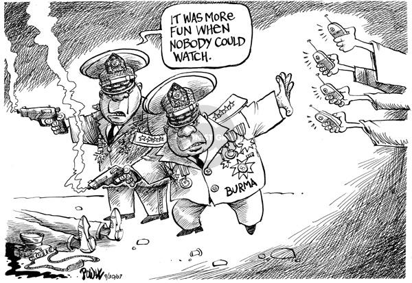 Dwane Powell  Dwane Powell's Editorial Cartoons 2007-10-01 freedom of speech
