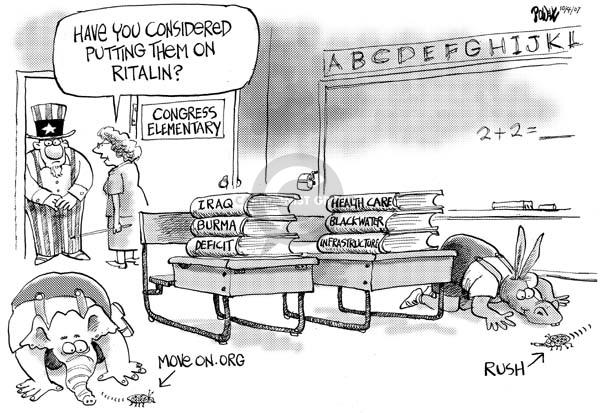Cartoonist Dwane Powell  Dwane Powell's Editorial Cartoons 2007-10-05 congressional