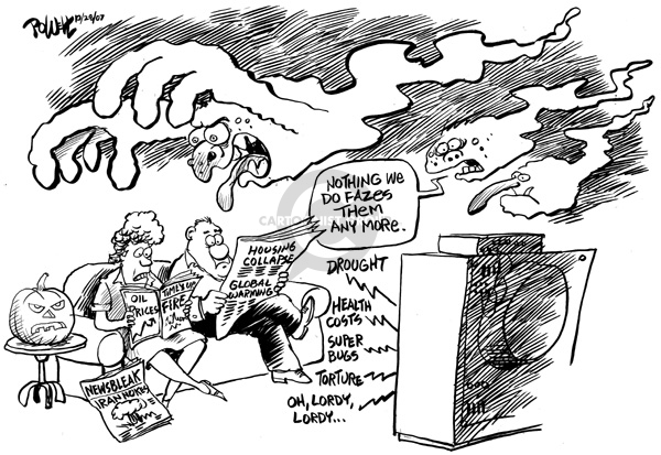 Cartoonist Dwane Powell  Dwane Powell's Editorial Cartoons 2007-10-29 weapon