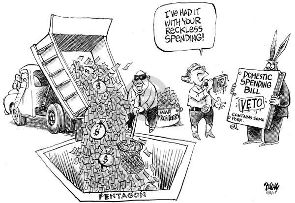 Dwane Powell  Dwane Powell's Editorial Cartoons 2007-11-16 profiteer