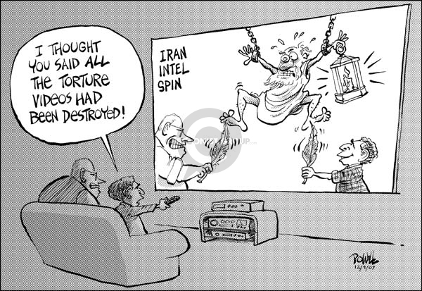 Cartoonist Dwane Powell  Dwane Powell's Editorial Cartoons 2007-12-10 CIA