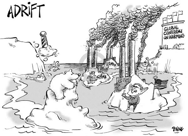 Cartoonist Dwane Powell  Dwane Powell's Editorial Cartoons 2007-12-13 bear