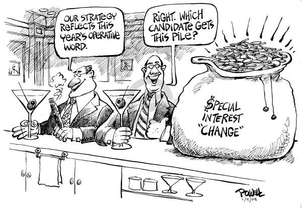 Cartoonist Dwane Powell  Dwane Powell's Editorial Cartoons 2008-01-09 special interest