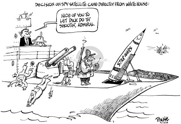 Cartoonist Dwane Powell  Dwane Powell's Editorial Cartoons 2008-02-19 Bush Cheney