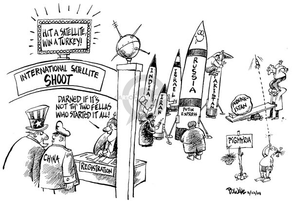 Cartoonist Dwane Powell  Dwane Powell's Editorial Cartoons 2008-02-22 weapon