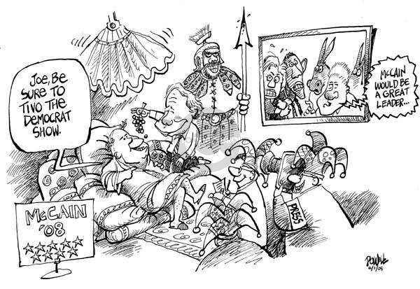 Cartoonist Dwane Powell  Dwane Powell's Editorial Cartoons 2008-04-02 partisan