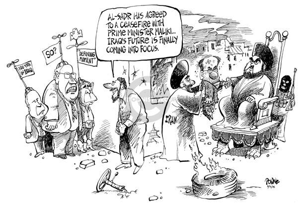 Dwane Powell  Dwane Powell's Editorial Cartoons 2008-04-02 Iraq war
