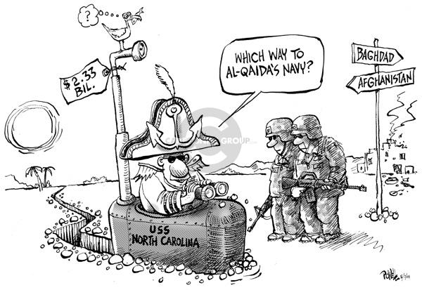 Cartoonist Dwane Powell  Dwane Powell's Editorial Cartoons 2008-05-07 military equipment