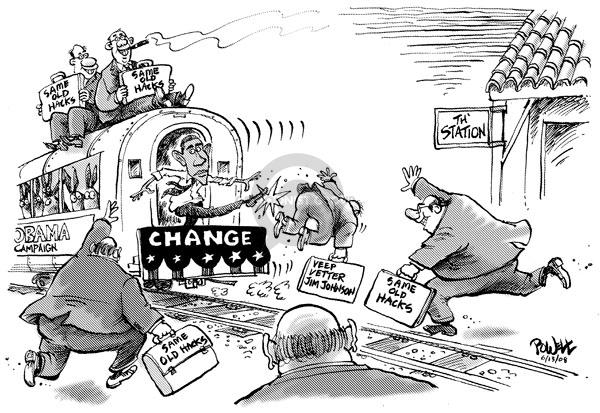 Dwane Powell  Dwane Powell's Editorial Cartoons 2008-06-13 Johnson