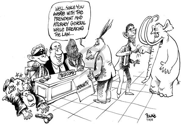 Dwane Powell  Dwane Powell's Editorial Cartoons 2008-07-15 immunity
