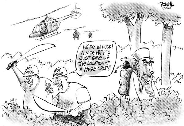 Dwane Powell  Dwane Powell's Editorial Cartoons 2008-07-30 hippie