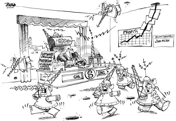Cartoonist Dwane Powell  Dwane Powell's Editorial Cartoons 2008-08-05 special interest