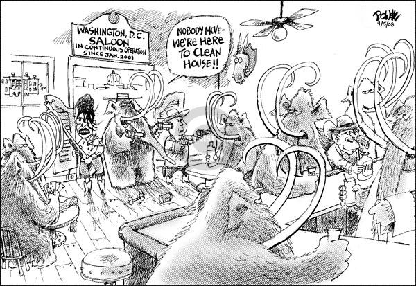 Cartoonist Dwane Powell  Dwane Powell's Editorial Cartoons 2008-09-05 partisan