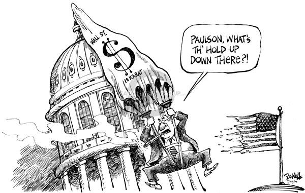 Dwane Powell  Dwane Powell's Editorial Cartoons 2008-09-25 stock market