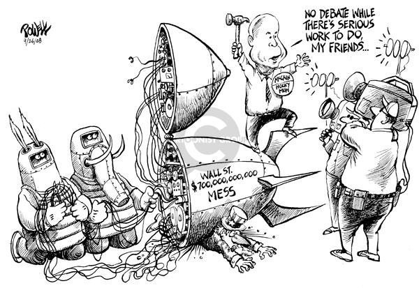 Cartoonist Dwane Powell  Dwane Powell's Editorial Cartoons 2008-09-26 bipartisan