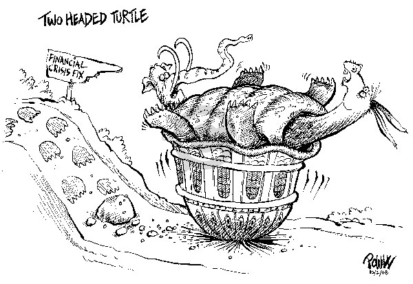 Dwane Powell  Dwane Powell's Editorial Cartoons 2008-10-02 stock market