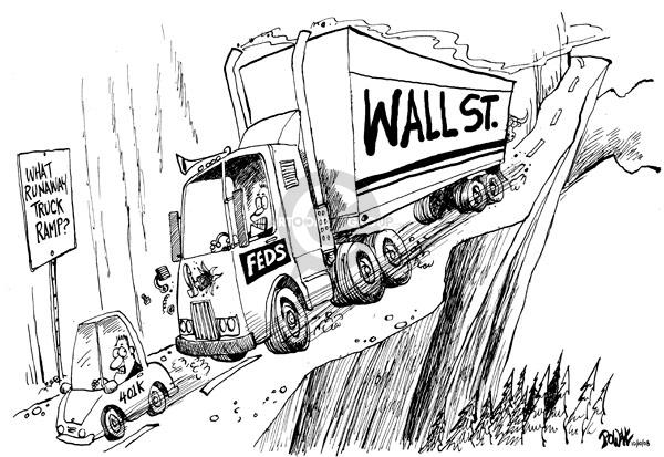 Dwane Powell  Dwane Powell's Editorial Cartoons 2008-10-13 stock market