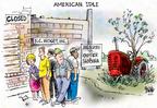 Cartoonist Dwane Powell  Dwane Powell's Editorial Cartoons 2004-06-02 economy