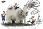 Cartoonist Dwane Powell  Dwane Powell's Editorial Cartoons 2004-09-02 campaign ad