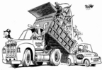 Cartoonist Dwane Powell  Dwane Powell's Editorial Cartoons 2005-02-10 bush