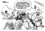 Cartoonist Dwane Powell  Dwane Powell's Editorial Cartoons 2009-02-26 war
