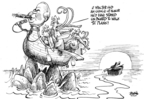Cartoonist Dwane Powell  Dwane Powell's Editorial Cartoons 2009-04-30 republican politician