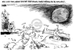 Cartoonist Dwane Powell  Dwane Powell's Editorial Cartoons 2009-07-20 moon
