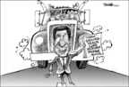 Cartoonist Dwane Powell  Dwane Powell's Editorial Cartoons 2009-09-21 republican politician