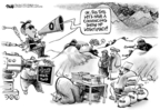 Cartoonist Dwane Powell  Dwane Powell's Editorial Cartoons 2009-10-22 war