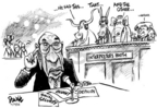 Cartoonist Dwane Powell  Dwane Powell's Editorial Cartoons 2005-02-18 republican politician