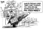 Cartoonist Dwane Powell  Dwane Powell's Editorial Cartoons 2005-03-11 destruction