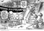 Cartoonist Dwane Powell  Dwane Powell's Editorial Cartoons 2004-08-27 Bush credibility