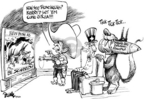 Cartoonist Dwane Powell  Dwane Powell's Editorial Cartoons 2004-10-26 WMD