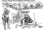 Cartoonist Dwane Powell  Dwane Powell's Editorial Cartoons 2004-12-21 gardening