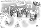 Cartoonist Dwane Powell  Dwane Powell's Editorial Cartoons 2004-12-27 Santa Claus