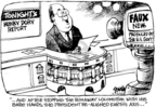 Cartoonist Dwane Powell  Dwane Powell's Editorial Cartoons 2005-03-15 Bush credibility