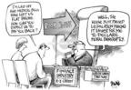 Cartoonist Dwane Powell  Dwane Powell's Editorial Cartoons 2005-04-17 economy