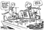 Cartoonist Dwane Powell  Dwane Powell's Editorial Cartoons 2005-08-05 science
