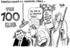 Cartoonist Dwane Powell  Dwane Powell's Editorial Cartoons 2005-08-24 700 club