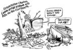 Cartoonist Dwane Powell  Dwane Powell's Editorial Cartoons 2005-09-28 destruction