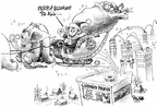 Cartoonist Dwane Powell  Dwane Powell's Editorial Cartoons 2005-12-06 Christmas