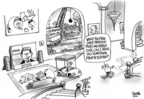 Cartoonist Dwane Powell  Dwane Powell's Editorial Cartoons 2006-05-03 golf