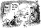 Cartoonist Dwane Powell  Dwane Powell's Editorial Cartoons 2006-05-25 war