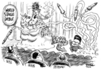 Cartoonist Dwane Powell  Dwane Powell's Editorial Cartoons 2006-07-06 North Korea