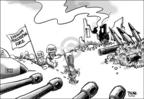 Cartoonist Dwane Powell  Dwane Powell's Editorial Cartoons 2006-08-23 destruction