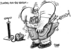 Cartoonist Dwane Powell  Dwane Powell's Editorial Cartoons 2006-08-30 muscle