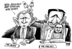 Cartoonist Dwane Powell  Dwane Powell's Editorial Cartoons 2006-11-29 Bush credibility