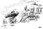 Cartoonist Dwane Powell  Dwane Powell's Editorial Cartoons 2007-02-20 war