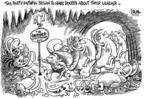 Cartoonist Dwane Powell  Dwane Powell's Editorial Cartoons 2007-05-11 candidates republicans