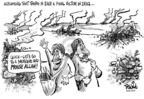 Cartoonist Dwane Powell  Dwane Powell's Editorial Cartoons 2007-06-21 war